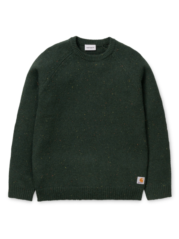 Carhartt WIP Anglistic Strick Sweater (loden heather)
