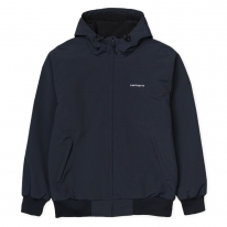Carhartt WIP Hooded Sail Jacke (blacksmith/black)