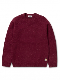 Carhartt WIP Anglistic Strick Sweater (mulberry heather)