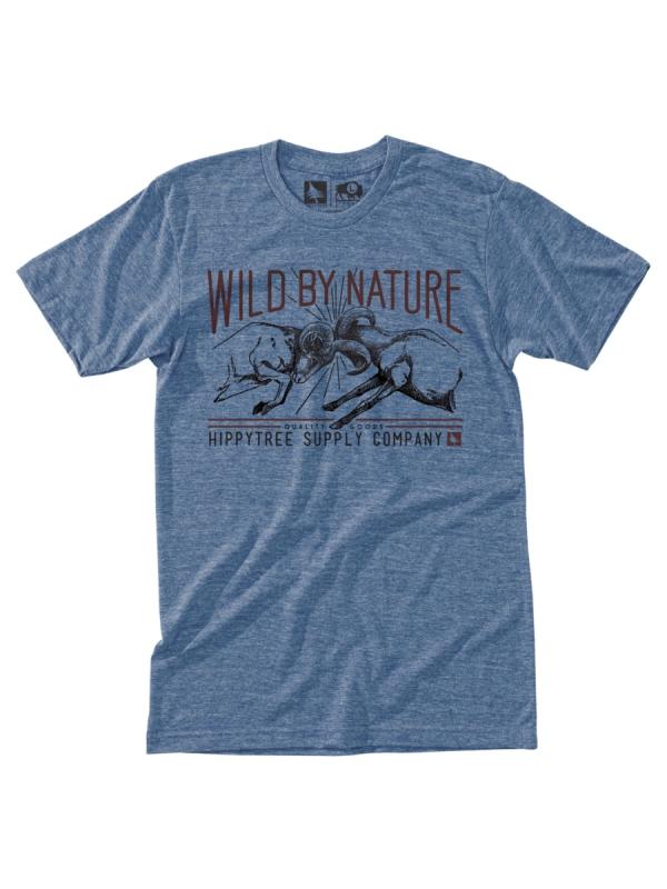 Hippytree Clash T-Shirt (heather light blue)