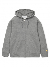 Carhartt WIP Chase Zip Hoodie (dark grey heather/gold)