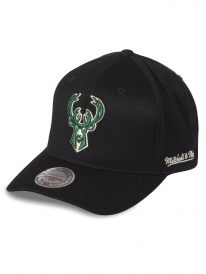 Mitchell & Ness Milwaukee Bucks 110 Curved Eazy Cap (black)