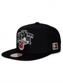 Mitchell & Ness Miami Heat Black Team Arch Cap (black)