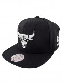 Mitchell & Ness Chicago Bulls Black & White Cap (black)
