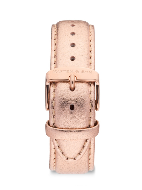 Kapten & Son Metallic Leather Strap (rose)