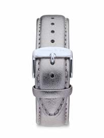 Kapten & Son Metallic Leather Strap (silver)