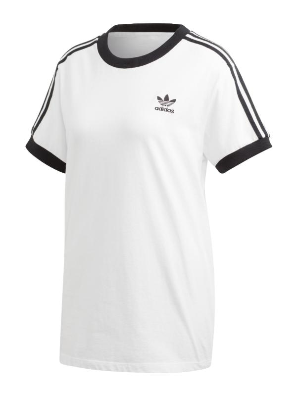 Adidas 3 Stripes T-Shirt (white/black)