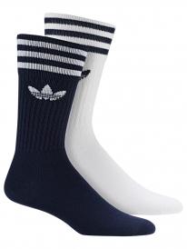 Adidas Solid Crew Socken 2 Paar (navy/white)