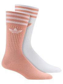 Adidas Solid Crew Socken 2 Paar (dust pink/white)