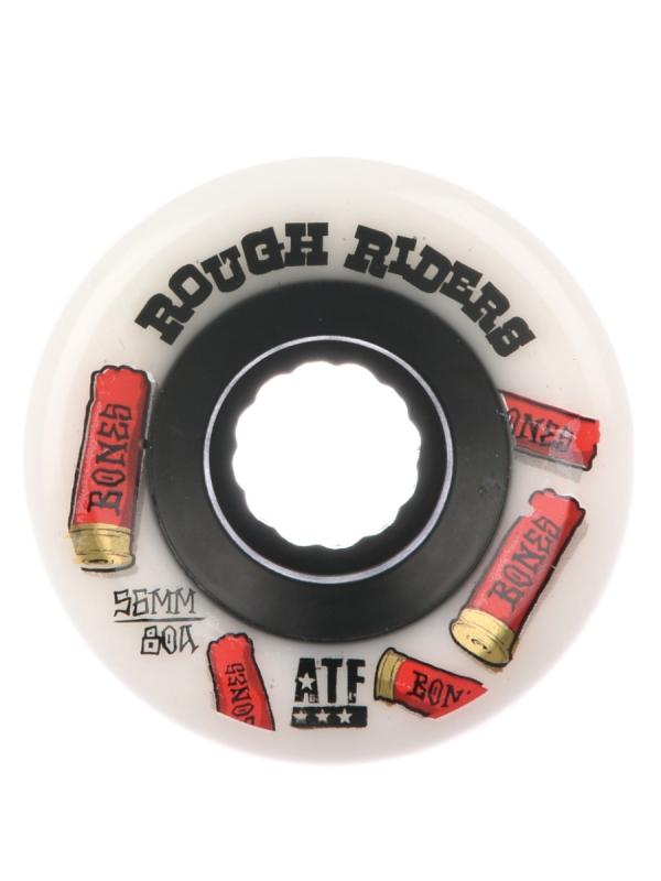 Bones Wheels ATF Rough Riders Shotgun Rolllen 59mm 80a (white) 4er Satz