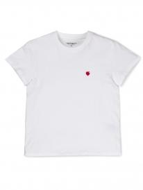 Carhartt WIP Tilda Hartt T-Shirt (white/cardinal)