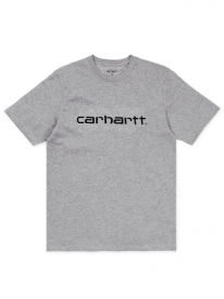 Carhartt WIP Script T-Shirt (grey heather/black)
