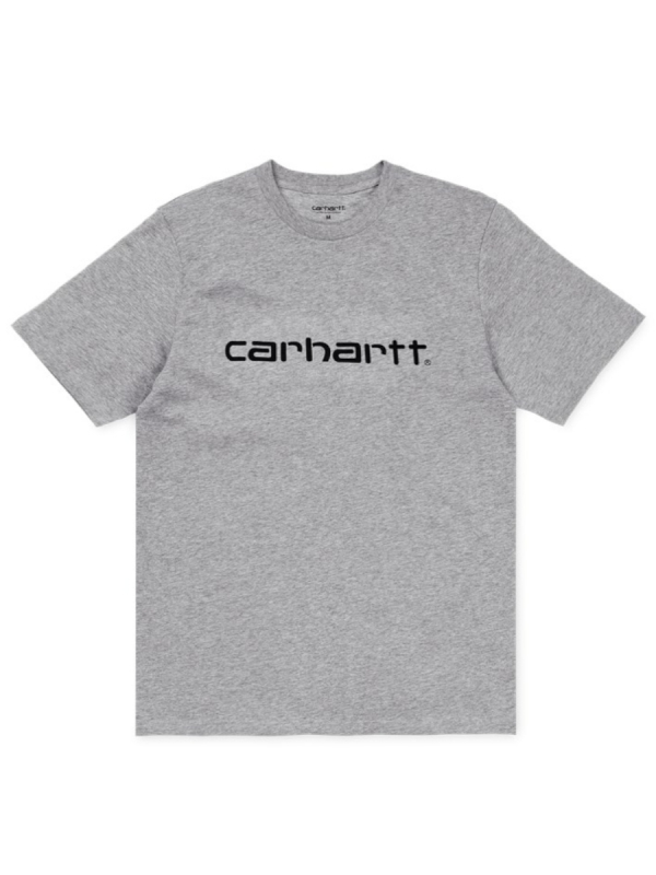 Carhartt WIP Script T-Shirt (grey heather/black)