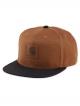 Carhartt WIP Logo Bi-Colored Cap (hamilton brown/black)