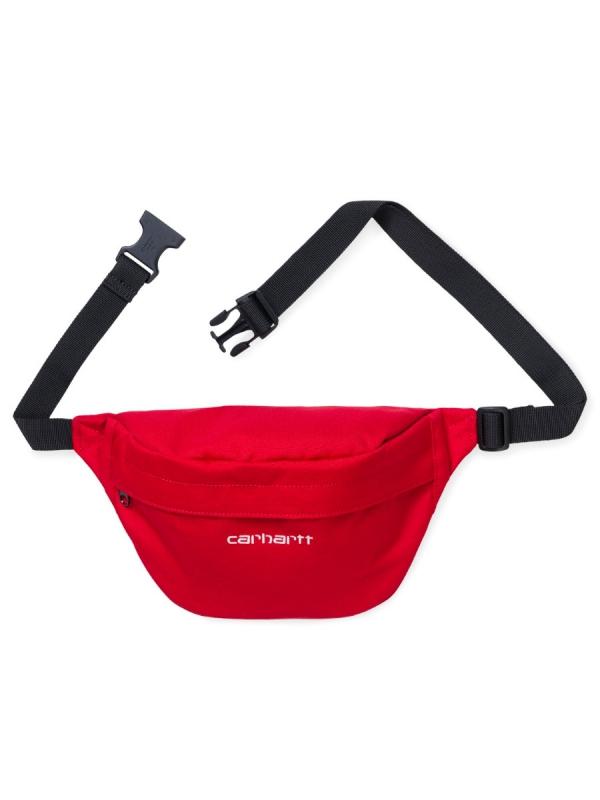 Carhartt WIP Payton Hip Bag (cardinal/white)