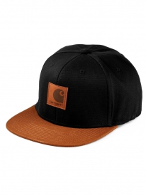 Carhartt WIP Logo Bi-Colored Cap (black/hamilton brown)