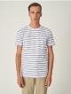 Cleptomanicx Double Stripe T-Shirt (white)