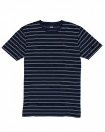 Cleptomanicx Double Stripe T-Shirt (dark navy)