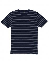 Cleptomanicx Double Stripe T-Shirt (dark navy)