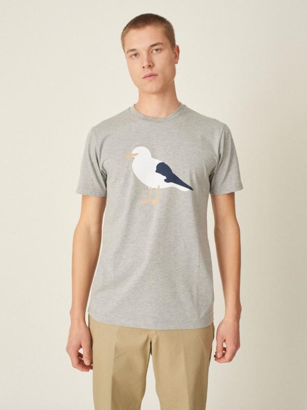 Cleptomanicx Gull 3 T-Shirt (heather gray)