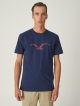 Cleptomanicx Möwe T-Shirt (dark navy/merlot red)