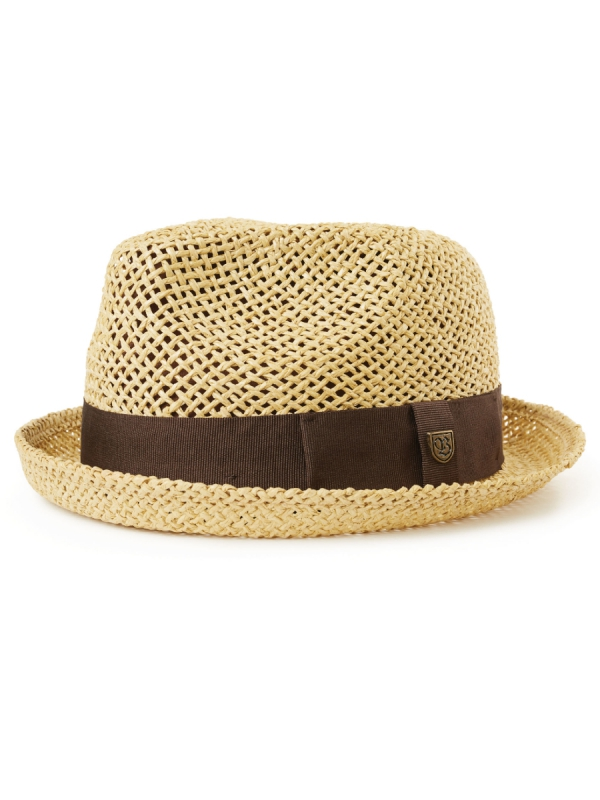 Brixton Castor Fedora Hat (dark tan)