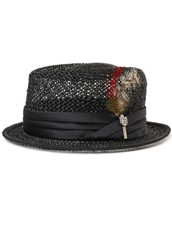 Brixton Stout Straw Hat (black)