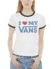 Vans Love Ringer T-Shirt (white/black)