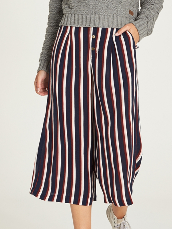 Element Aluna Culotte Pant (indigo stripe)