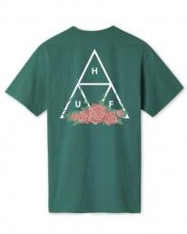 Huf City Rose Triple Triangle T-Shirt (deep jungle)