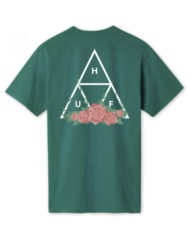 Huf City Rose Triple Triangle T-Shirt (deep jungle)