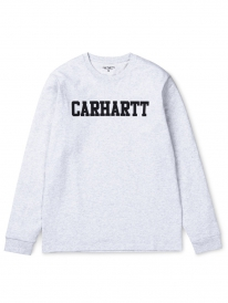 Carhartt WIP College Longsleeve (ash heather/dark navy)