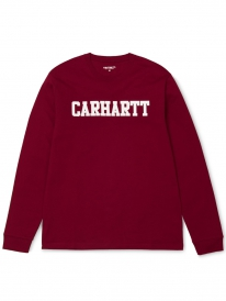 Carhartt WIP College Longsleeve (mulberry/white)