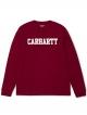 Carhartt WIP College Longsleeve (mulberry/white)