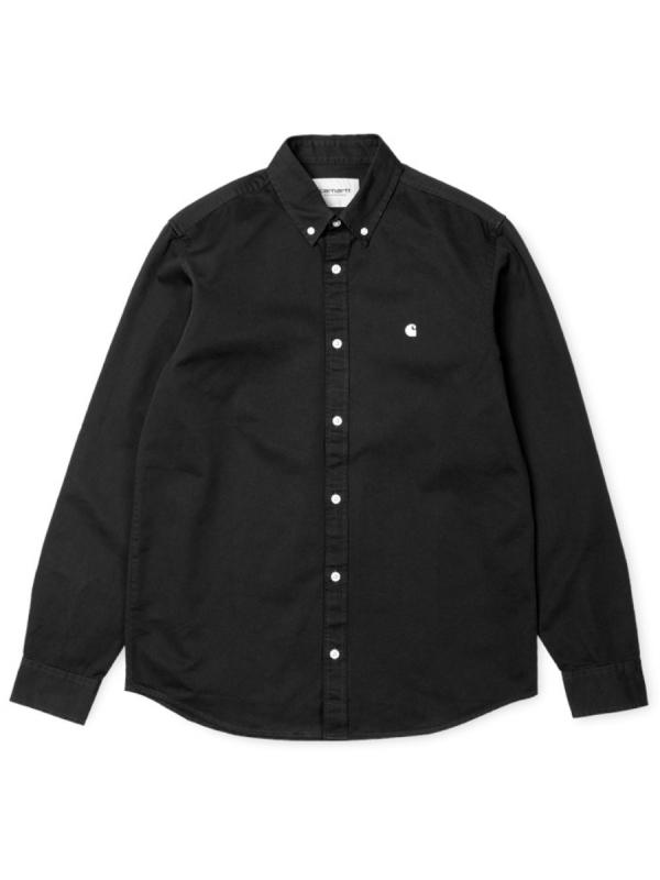 Carhartt WIP Madison Hemd (black/wax)