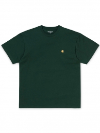 Carhartt WIP Chase T-Shirt (bottle green/gold)