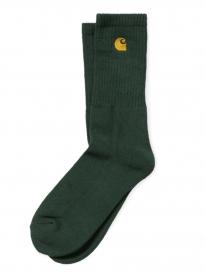Carhartt WIP Chase Socken (bottle green/gold)