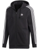 Adidas 3 Stripes Zip Hoodie (black)
