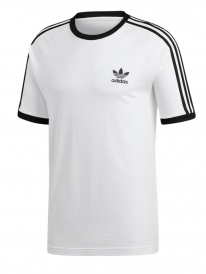 Adidas 3 Stripes T-Shirt (white/black)