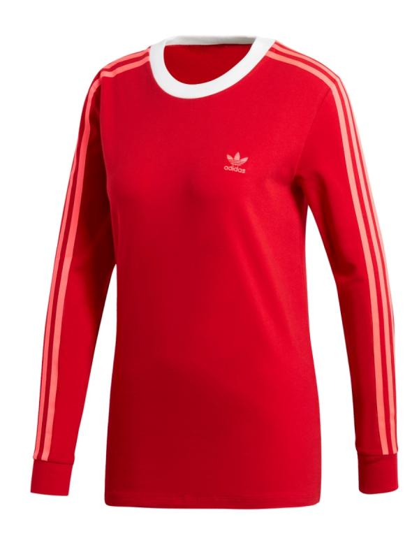 Adidas 3 Stripes Longsleeve (scarlet)
