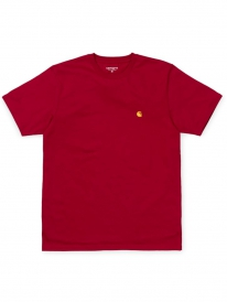 Carhartt WIP Chase T-Shirt (cardinal/gold)