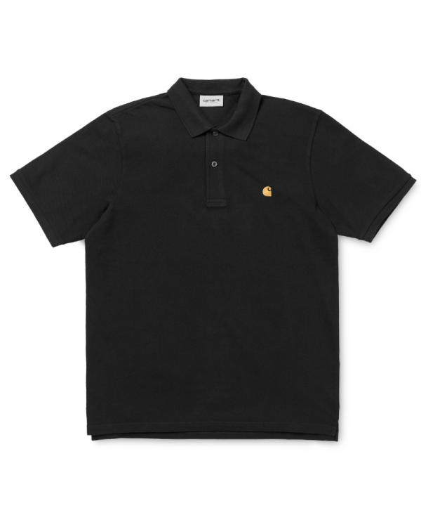 Carhartt WIP Chase Pique Polo (black/gold)