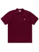 Carhartt WIP Chase Pique Polo (merlot/gold)