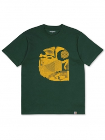 Carhartt WIP Cut Out T-Shirt (chrome green/yellow)