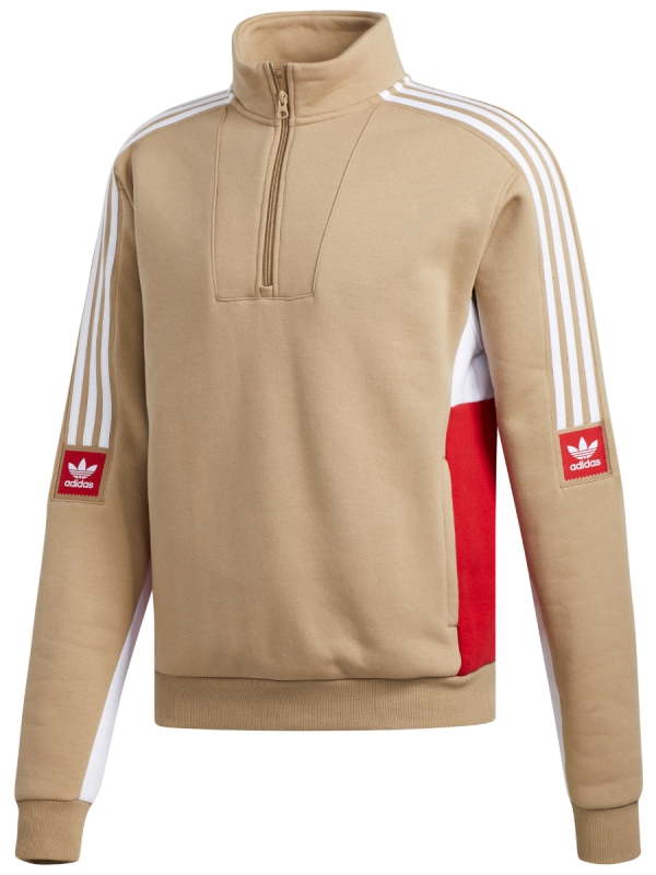 Adidas Modular Fleece 2 Sweater (hemp/white/power red)