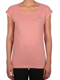 Iriedaily Panda Patch T-Shirt (peach pink)