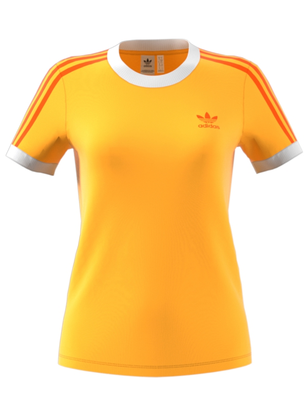 Adidas 3 Stripes T-Shirt (flash orange)
