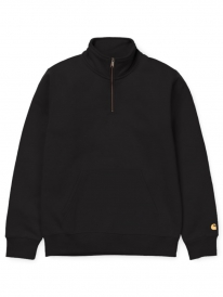 Carhartt WIP Chase Neck Zip Sweat (black/gold)