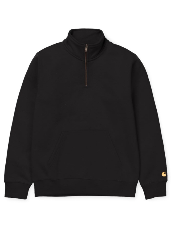 Carhartt WIP Chase Neck Zip Sweater (black/gold)