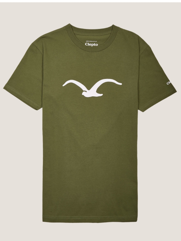 Cleptomanicx Möwe T-Shirt (rifle green)